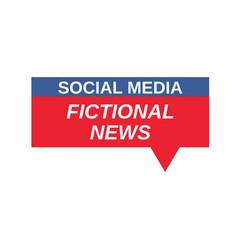 social media fictional news sign vector image