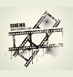 template grunge cinema poster grunge banner vector image