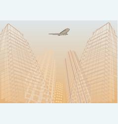 Travel airplane vector