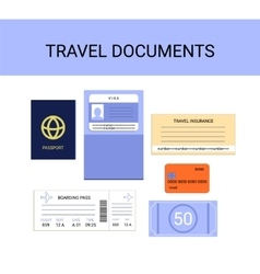 Travel documents infographics set vector