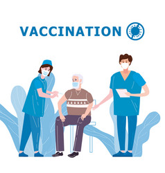 vaccination for covid-19 immunity health doctor vector image