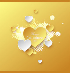Valentines day holiday card vector
