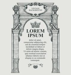 Vintage background or frame for certificate vector