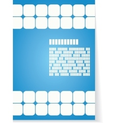 White and blue background for brochure or cover vector image