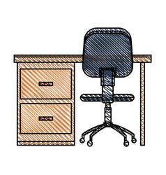 desk chair workplace image vector image vector image