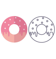 donuts icons on isolated background vector image vector image