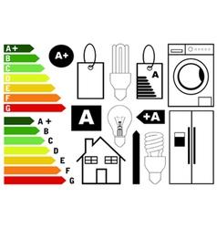 energy efficiency elements vector image vector image