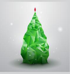 Glassy Christmas Tree vector image vector image