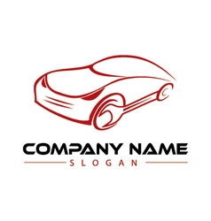 mechanic car logo vector image vector image