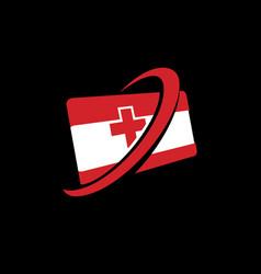Medical contact card vector