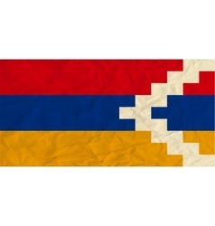 Nagorno-Karabakh Republic paper flag vector image