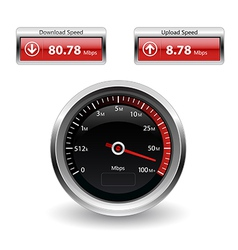 Speed internet test icons vector