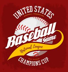 ball for american sport baseball game logo vector image