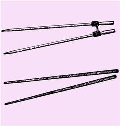 chopsticks vector image