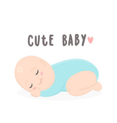 cute baby boy sleeping vector image
