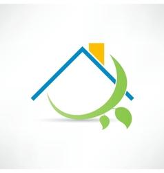 Eco home icon vector image vector image