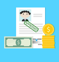 financial credit is approved vector image