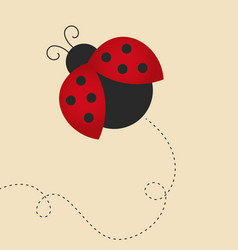 flying lady bug vector image