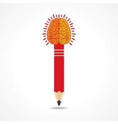 Pencil with brain vector image