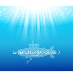 Blurred underwater background with sunbeams vector image vector image