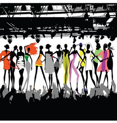 fashion show crowd vector image vector image