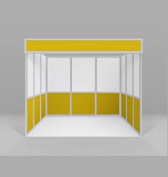 Indoor trade exhibition booth for presentation vector