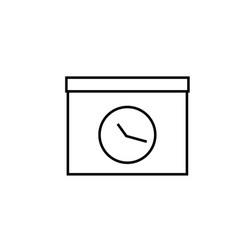 meeting deadline icon vector image