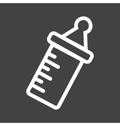 Milk Bottle I vector image vector image