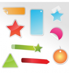 set of multicolored tags vector image vector image
