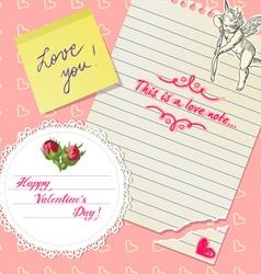 valentines scrapbook vector image