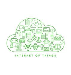 70 internet things b vector image