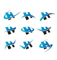 Alphabet H Logo Icons vector image vector image