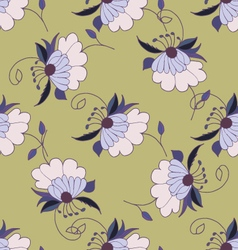 Colorful hand drawn floral seamless pattern vector