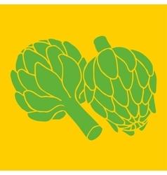 doodle of artichoke organic vegan vector image