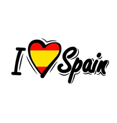 I Love spain vector image