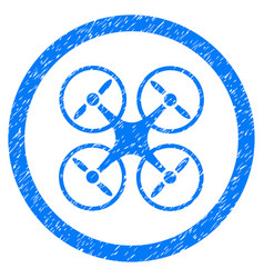nanocopter rounded grainy icon vector image