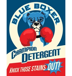 poster Boxer dog vector image