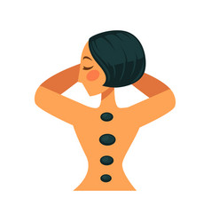woman with rocks on back vector image