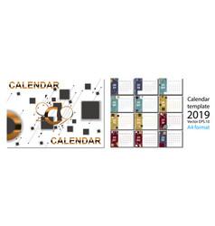 2019 new year calendar with simle geometric vector image