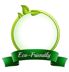 A round empty template with an eco-friendly label vector