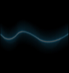 abstract blue sound wave background vector image