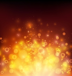 Abstract fire bokeh background vector image