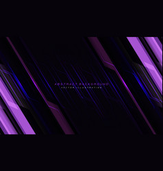 Abstract violet line cyber circuit slash on black vector