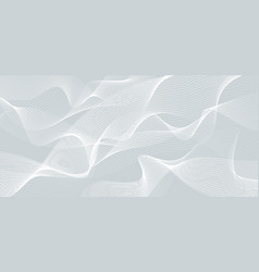 abstract white wave or wavy line background and vector image