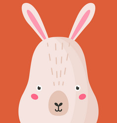 Adorable hare snout flat cute vector