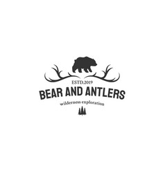 adventure with bear logo designs vector image