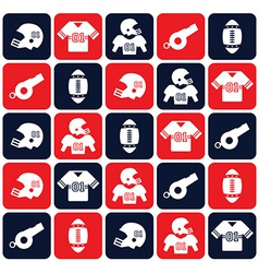 American football design elements vector