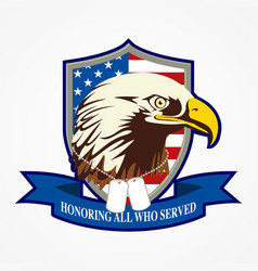 american shield and eagle vector image
