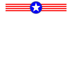 american symbols ribbon frame vector image