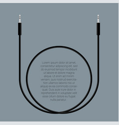 Audio cable template vector